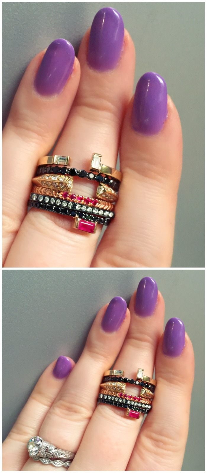 Beautiful rings by Selin Kent.