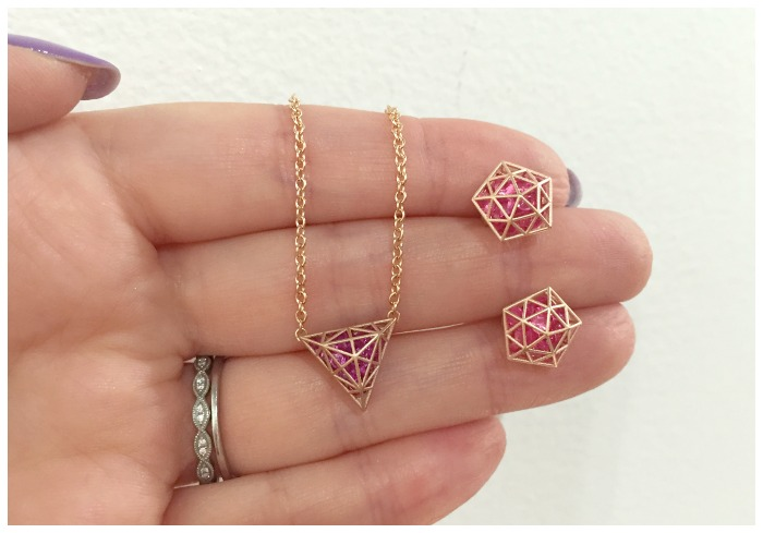 Pretty little pieces by Roule and Co. I love the look of these caged gemstones.