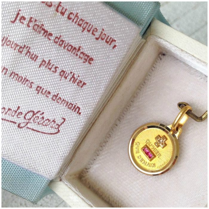 Via @erinantiques - This small little vintage +Qu Heir - Que Demain charm from the 70's is available.