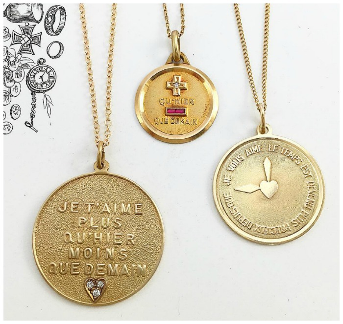 A love poem you can wear the augis medaille damour theedencollectivevintage french love tokens in 14k 18k an essential part of any self aloadofball
