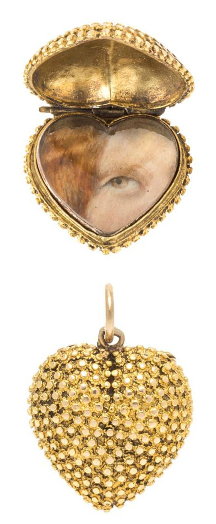 A Georgian Yellow Gold Lover's Eye Locket