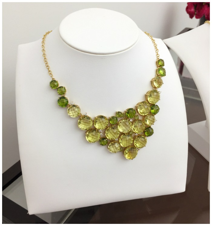 A beautiful gemstone necklace from Carelle.