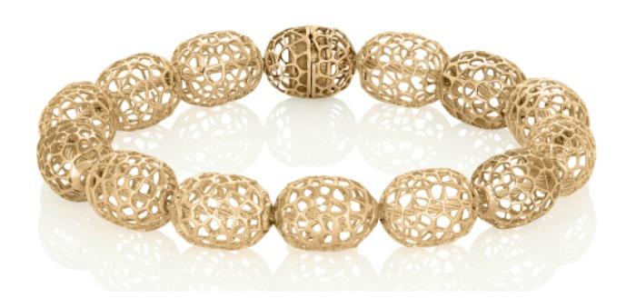 A fantastic gold metal lace bracelet from Vitae Ascendere.