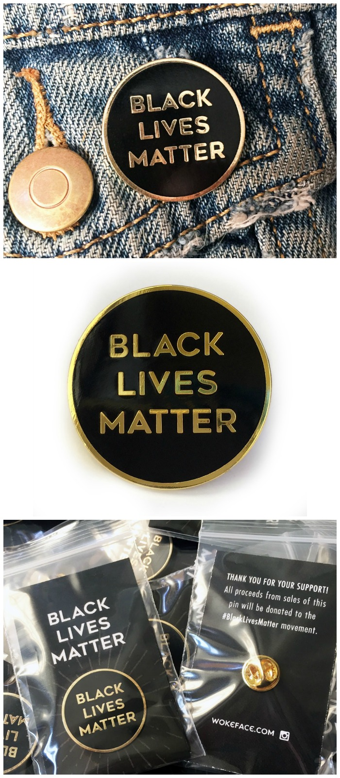 All of the proceeds from this Black Lives Matter button are actually donated to the movement.