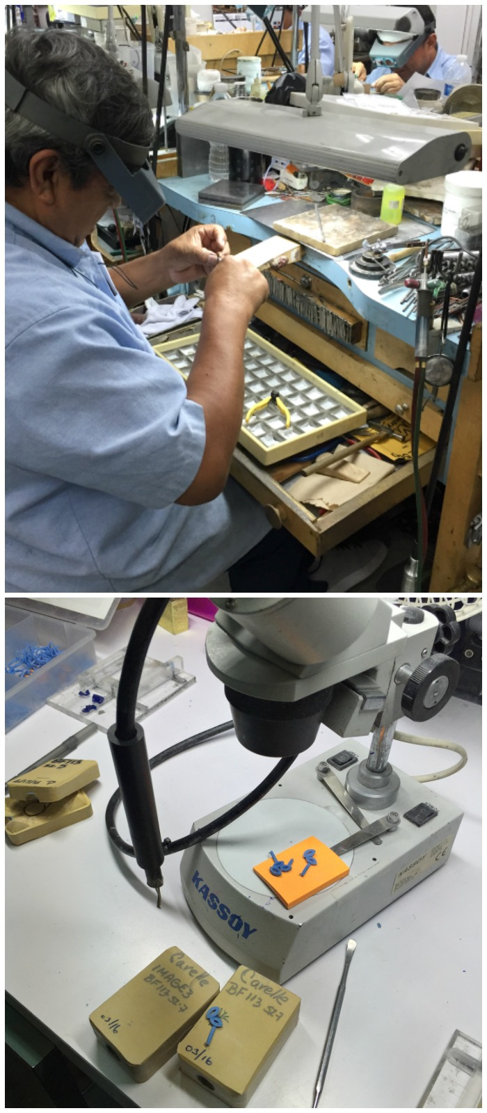 Seeing jewelry being made in the Carelle workshop in New York City!