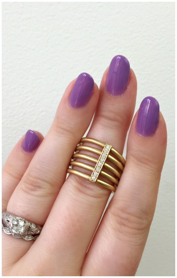 The beautiful Moderne Penta ring by Carelle.
