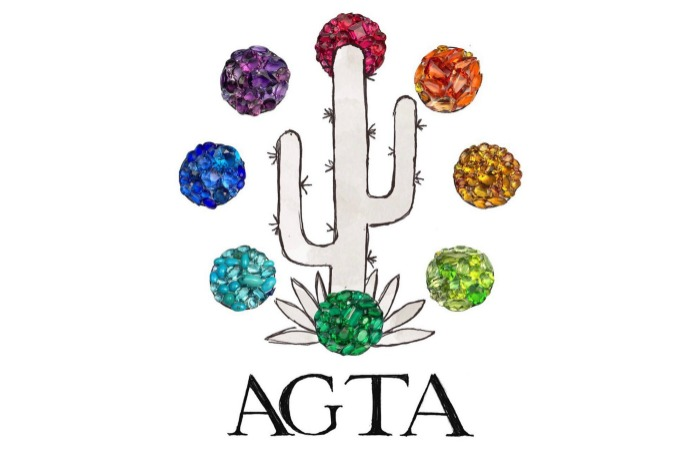 Becky Stone and Hannah Becker are the 2017 AGTA GemFair Gembassadors! Graphic by DiamonDoodles.
