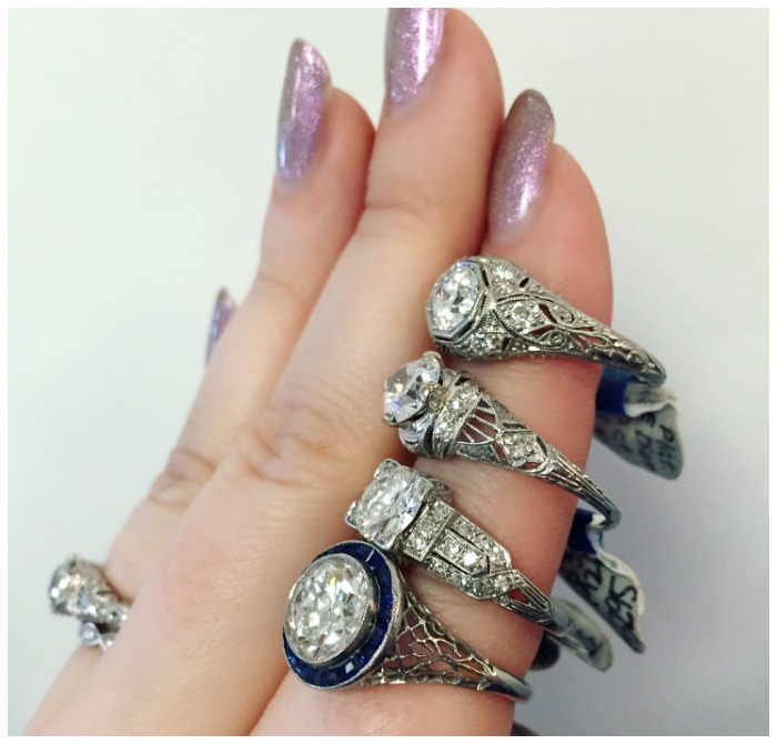 Four stunning Art Deco engagement rings from A Brandt and Son. It's no wonder this was one of my most popular blog posts of 2016.