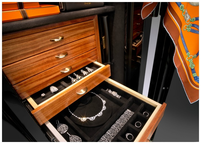 A beautiful custom safe from Brown Safe. I want one of these to fill with fabulous jewelry!