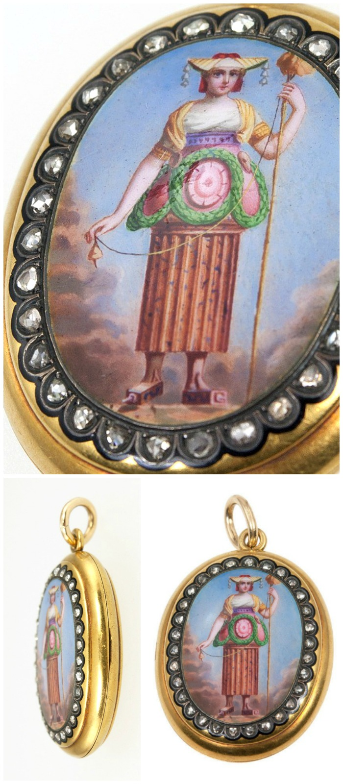 A fantastically unusual antique locket from Craig Evan Small. Spotted at the Original Miami Antique Show