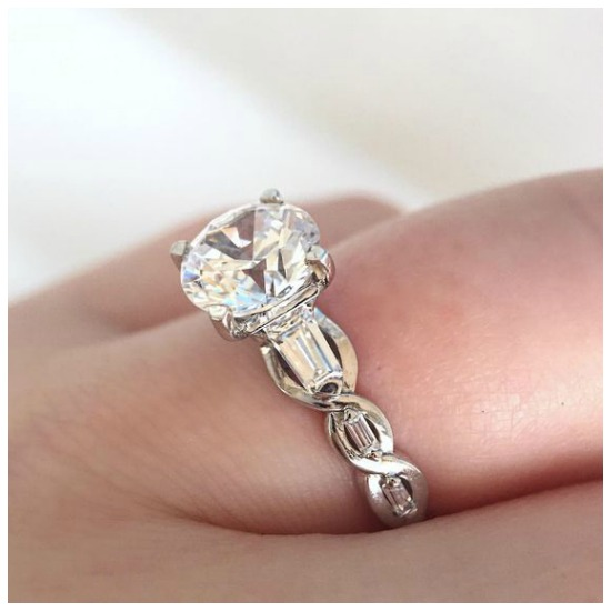 The glamorous Tobermory diamond engagement ring by MaeVona.