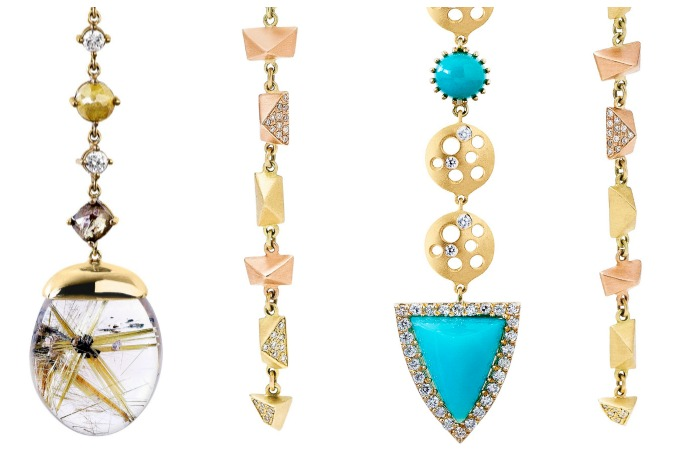 A closer look at the new Dana Bronfman earrings.