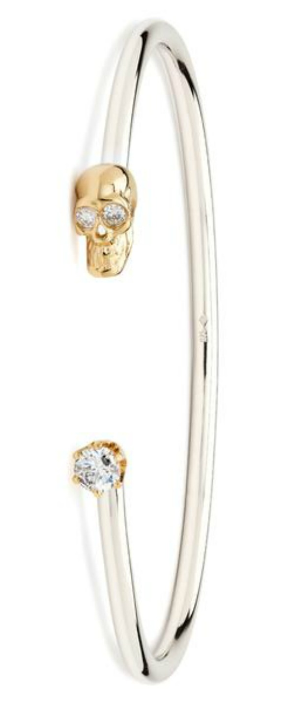 I love the Alexis Kletjian skull cuffs! This one is in silver and gold with diamonds.