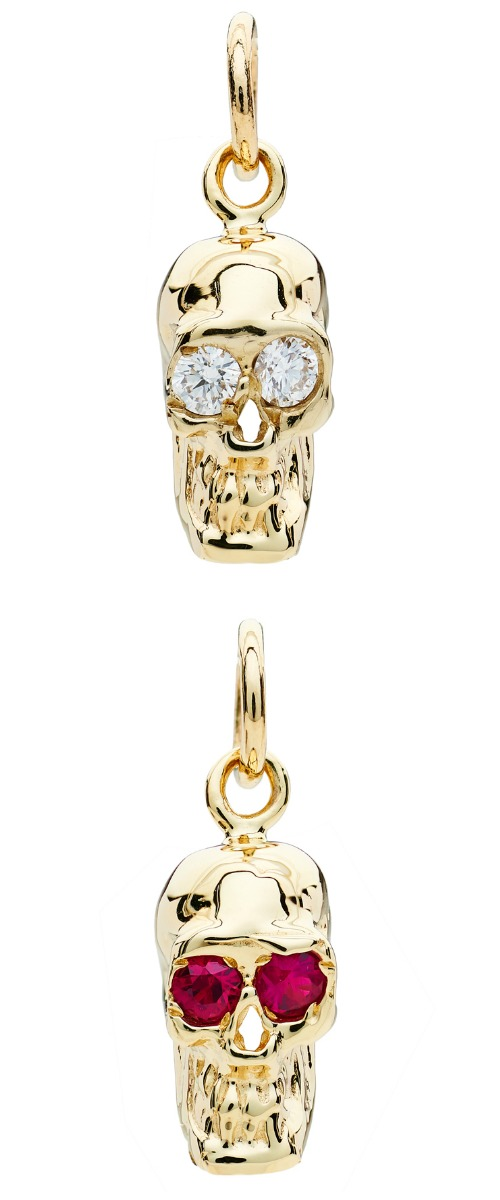 I love these Alexis Kletjian skulls! In yellow gold with rubies or diamonds.