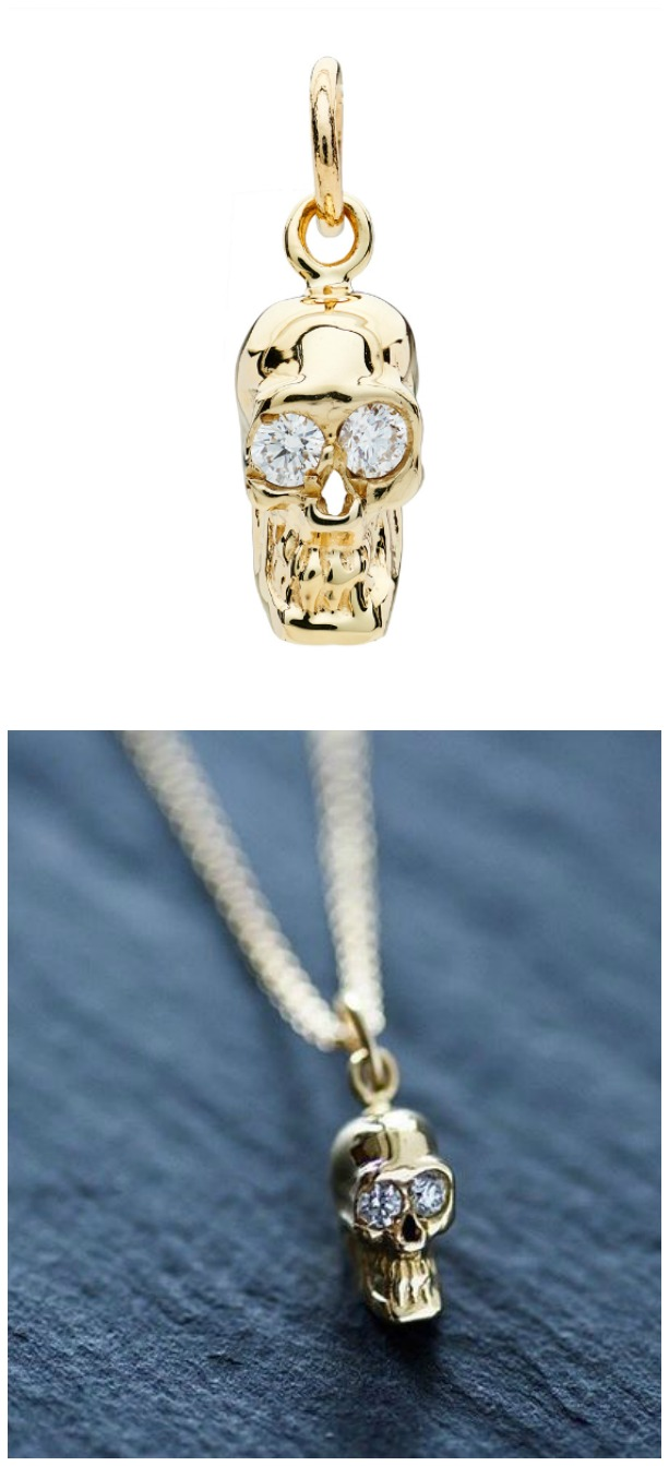 I love these Alexis Kletjian skulls! This one is a pendant in yellow gold with diamonds.