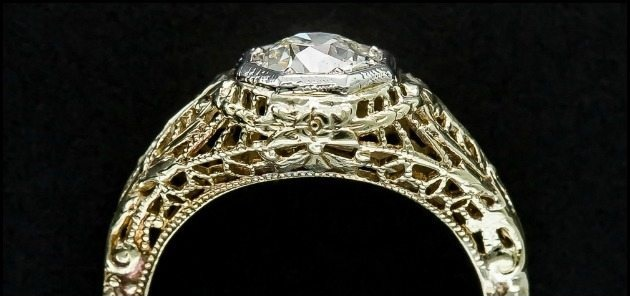 Ring roundup gold filigree engagement rings.
