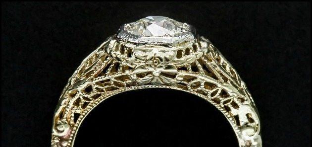 Ring roundup gold filigree engagement rings.