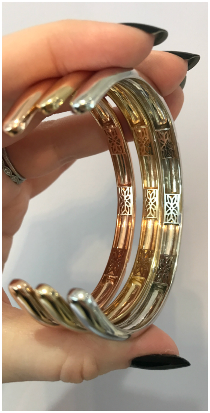 I love these cuffs from Gigi Ferranti! Even the insides are beautiful.