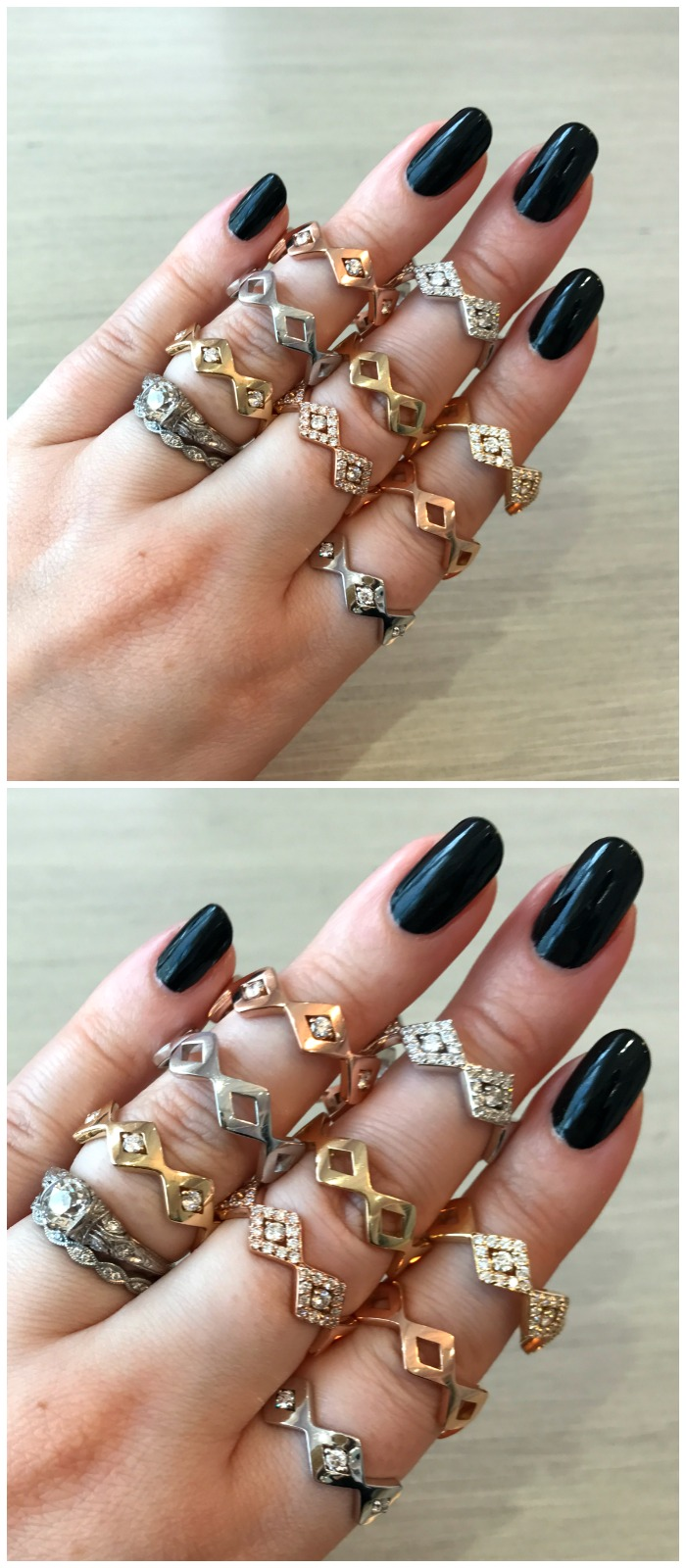 I love these stacking rings from GiGi Ferranti!! I want them all.
