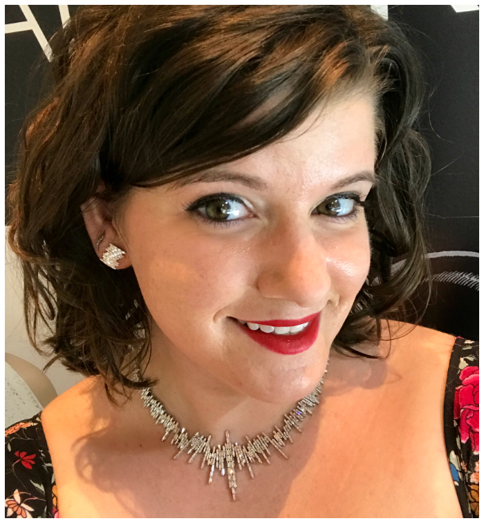 I could not be happier to be wearing this stunning diamond necklace and earrings by Suzanne Kalan.