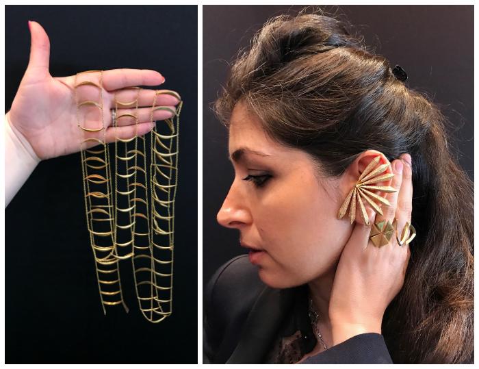 I love Karma El Khali's bold, gold designs!