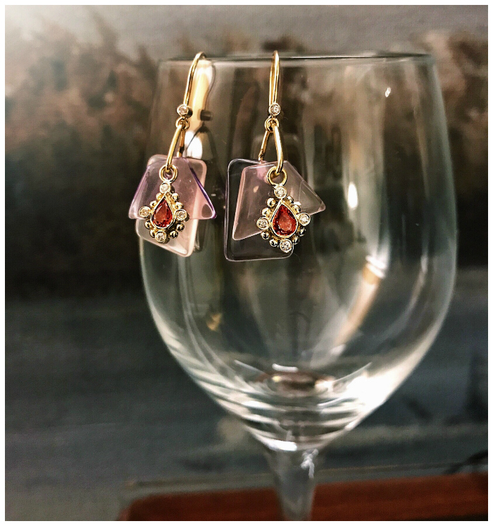 A beautiful pair of earrings by Loriann Jewelry.