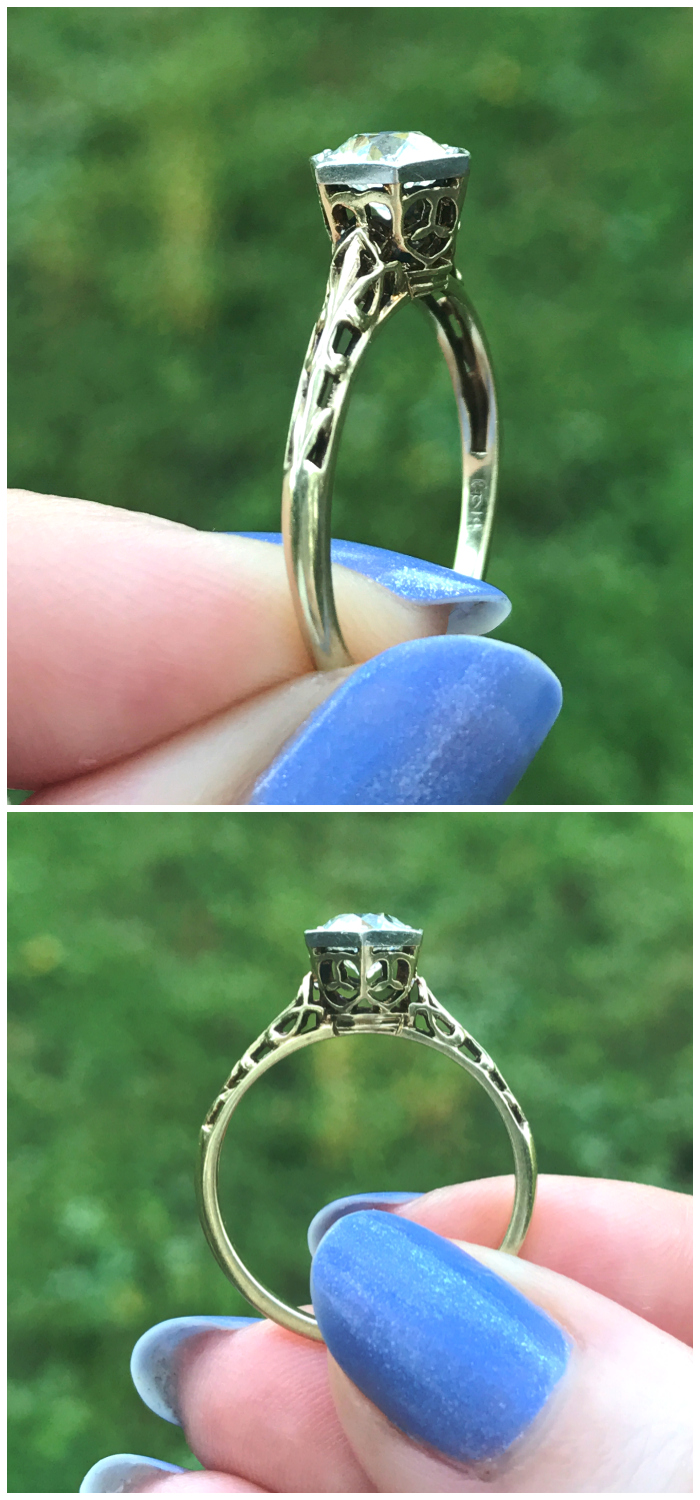 I love the details on this diamond ring from Three Graces!