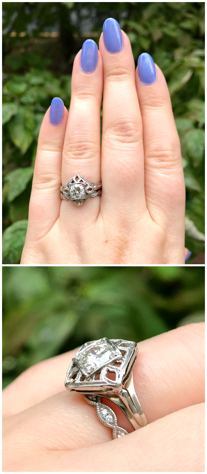 I love this vintage diamond ring from Three Graces! This would be a beautiful engagement ring.