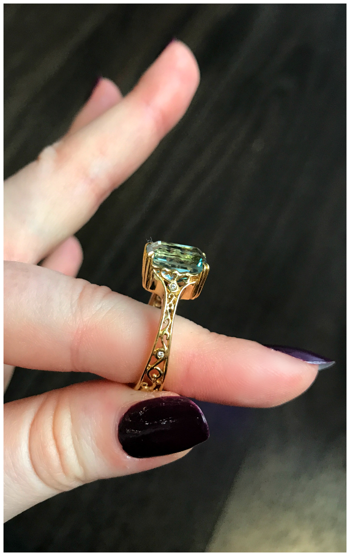 A beautiful custom ring made by Hunt Country Jewelers.