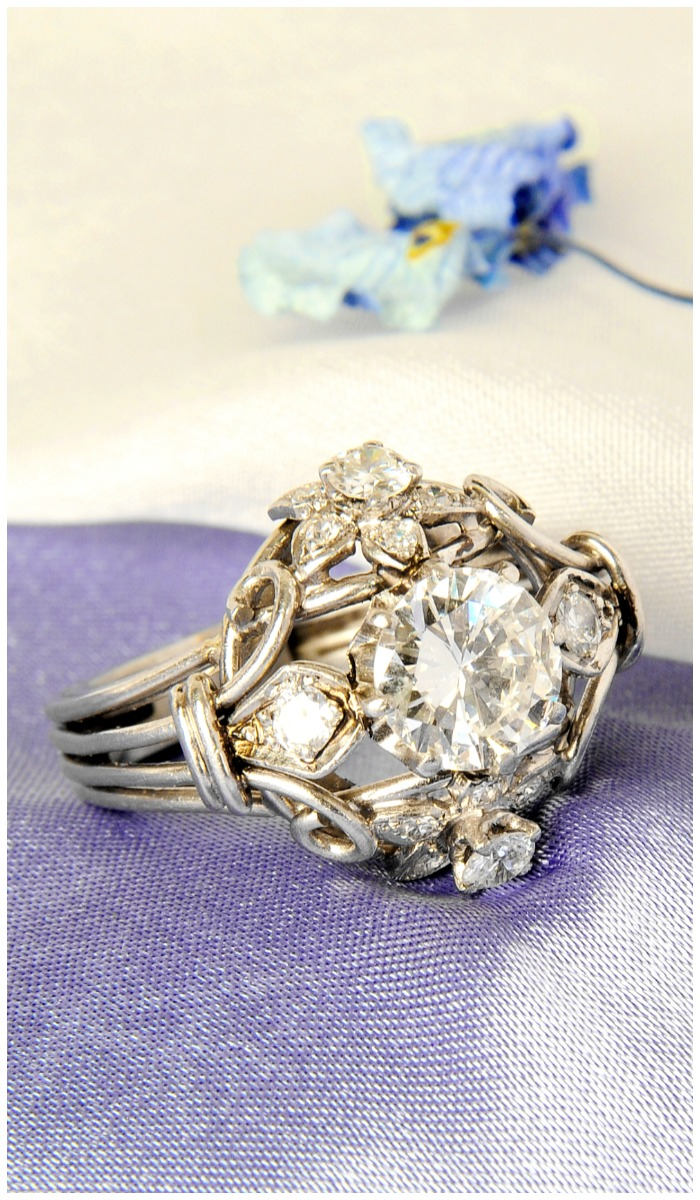 A fabulous diamond dress ring! The center stone is 2.10 carats.