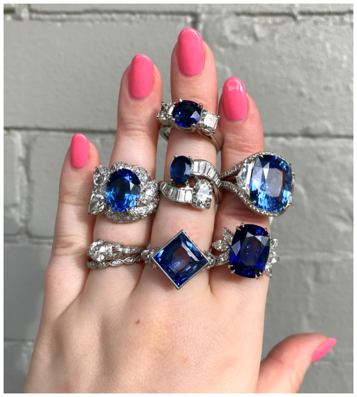 A handful of truly exceptional sapphire and diamond rings from Joden. Some vintage, some signed, all spectacular.