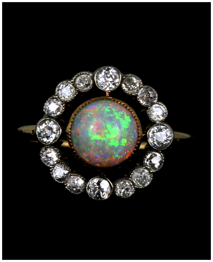 A lovely antique opal and diamond ring from Lillicoco. What a beauty!