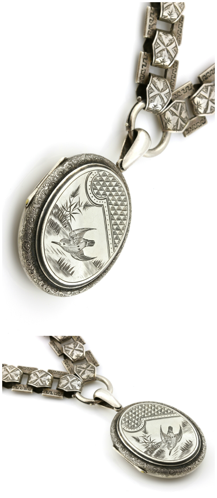 A lovely vintage silver locket from Lillicoco.