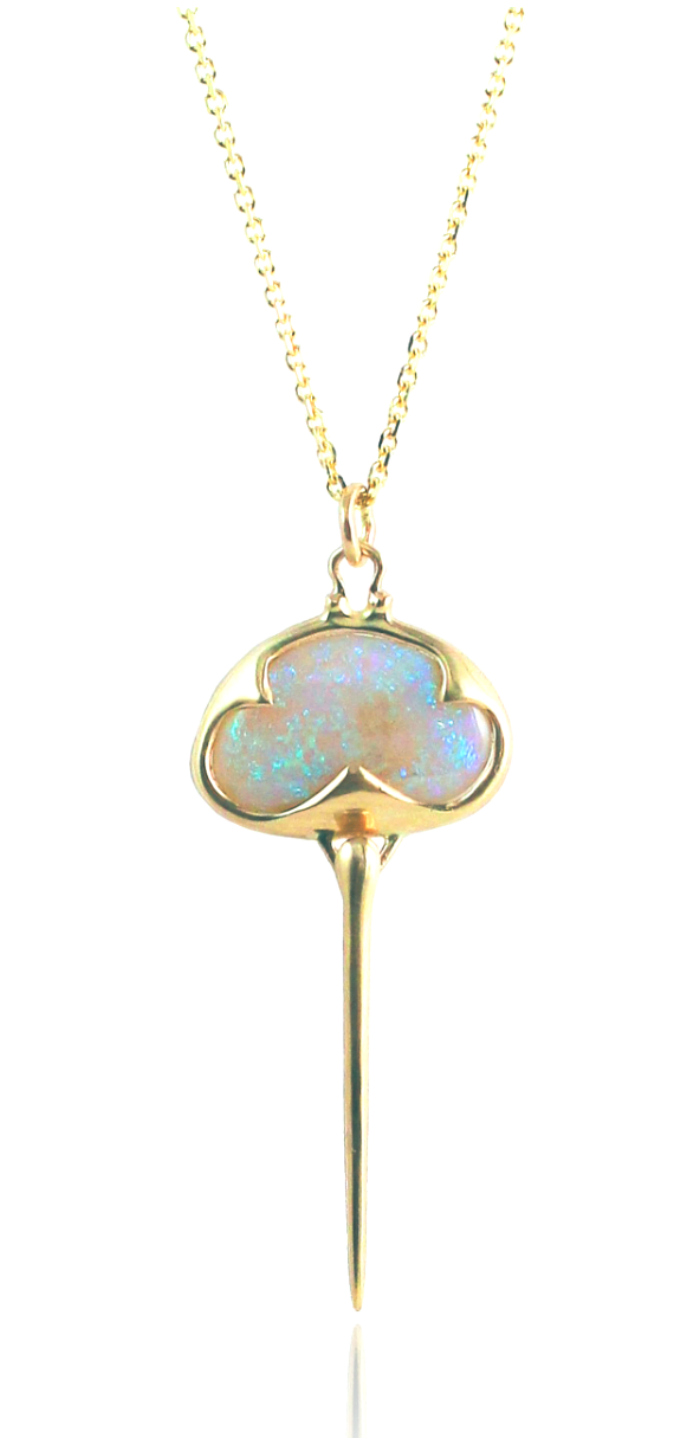 A one of a kind opal necklace by Rachel Atherley