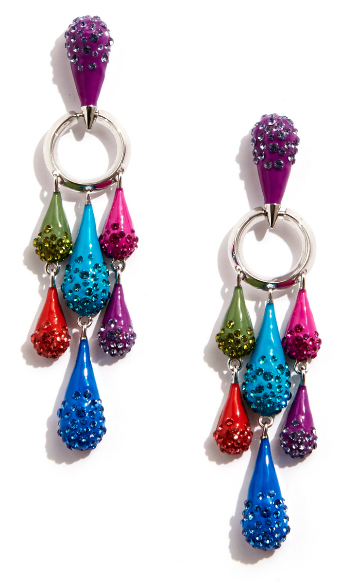 The chandelier statement earrings from Sarah Magid's Candy Drop collection! Enamel and Swarovski crystal. These are so fun.