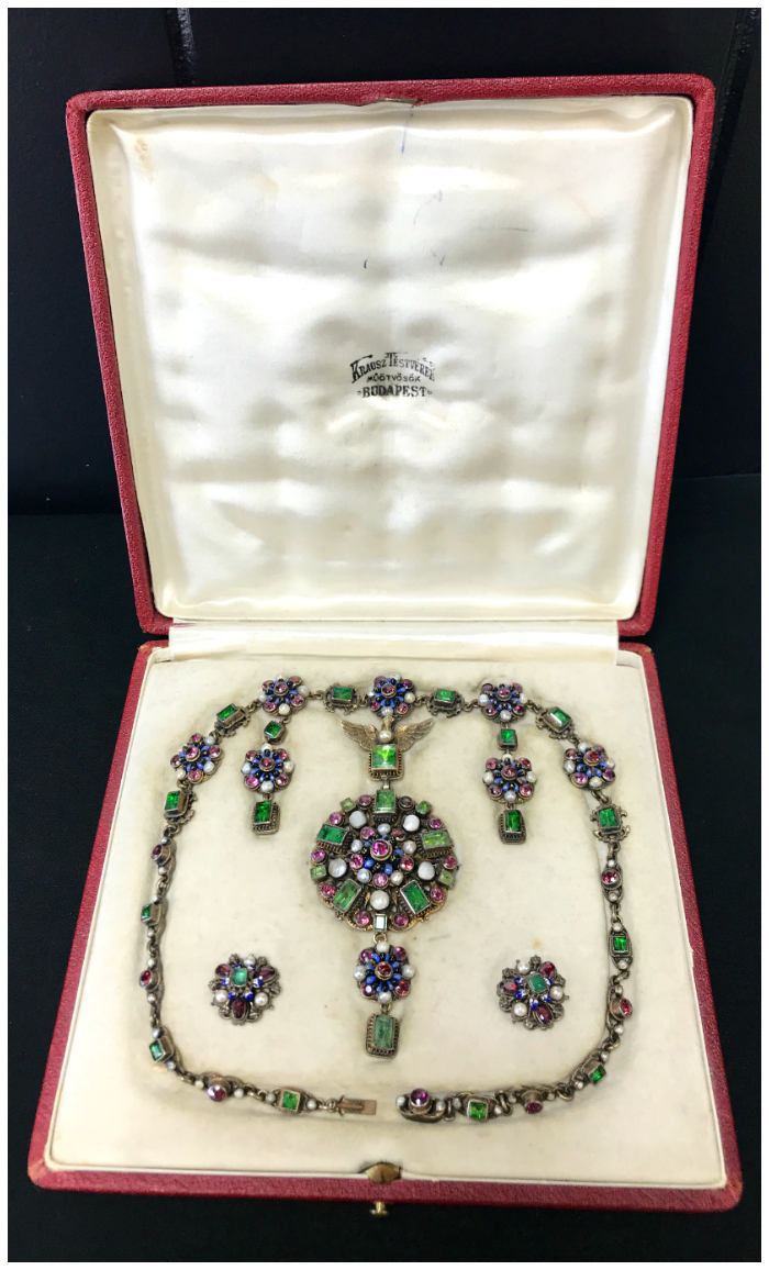 A beautiful necklace and earrings set from Joden.