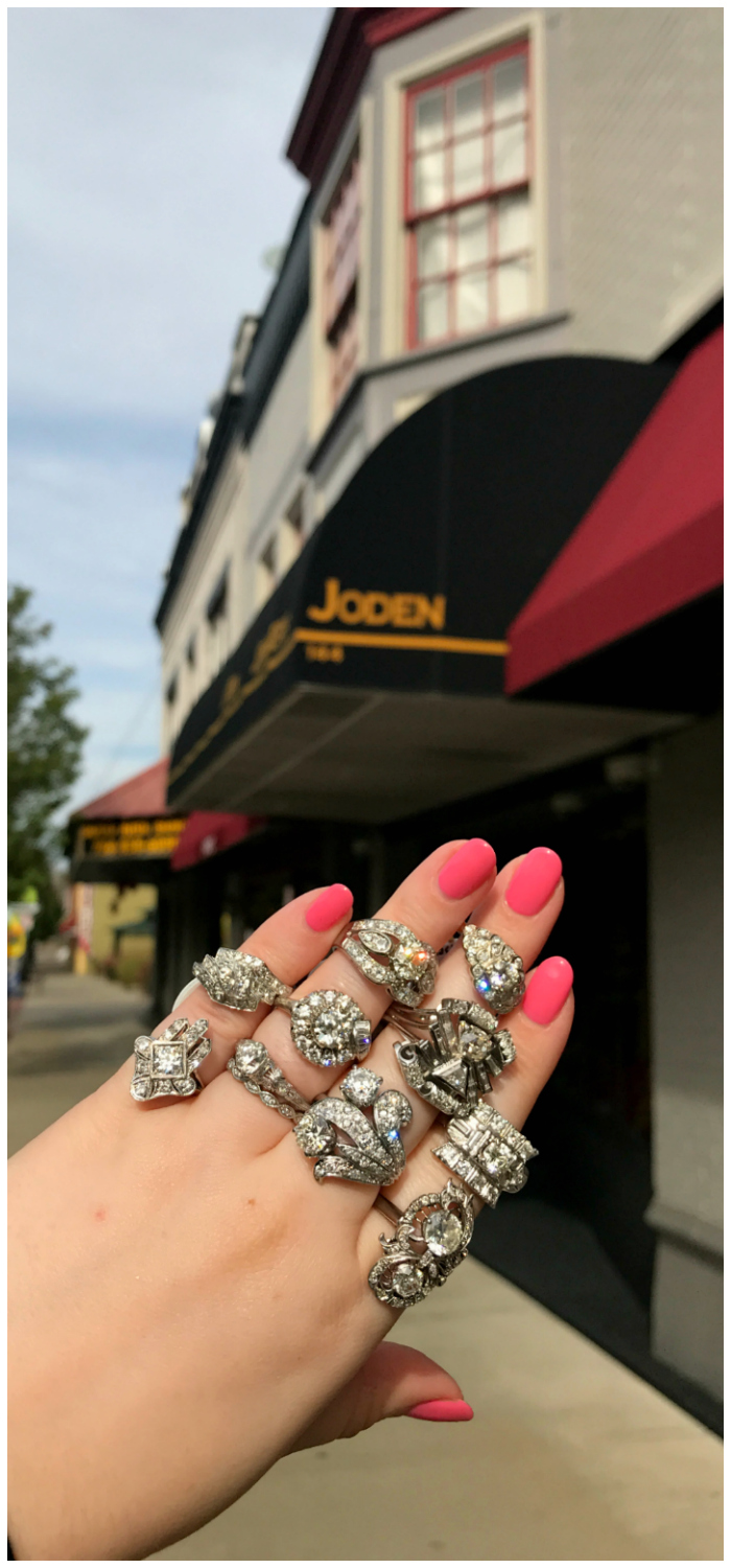 Beautiful vintage diamond rings from Joden! I loved visting this Pennsylvania jewelry store.
