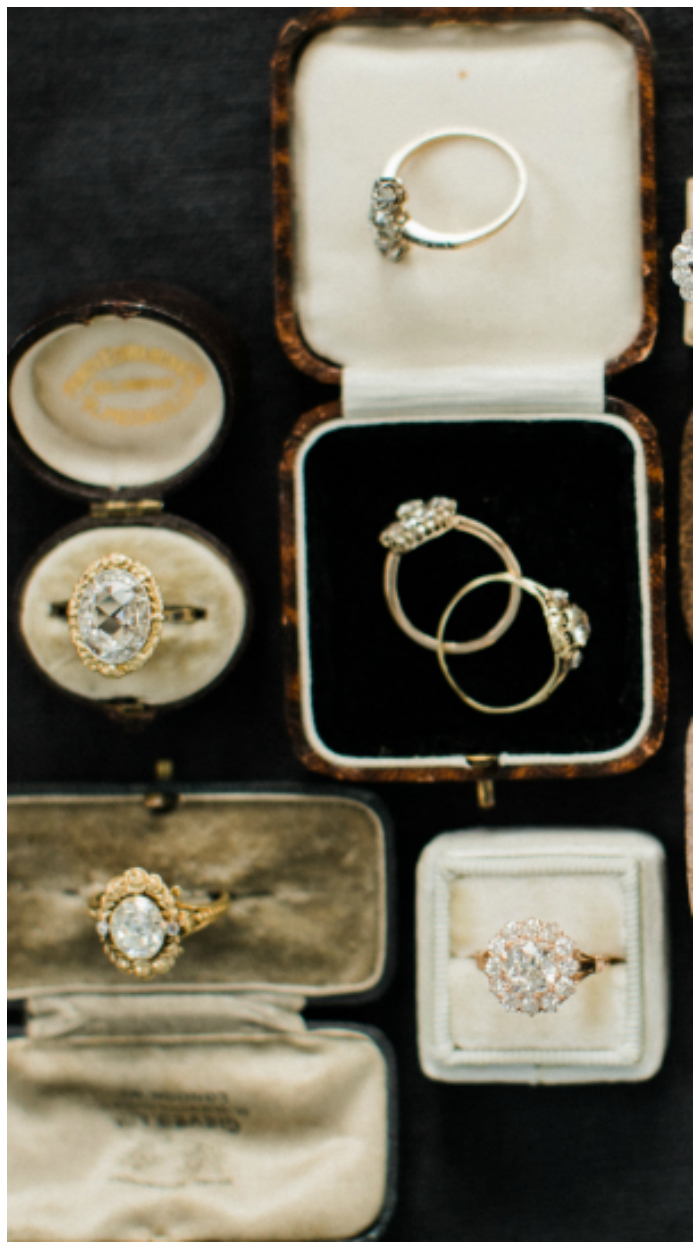 Lovely antique and vintage engagement rings from Victor Barbone.