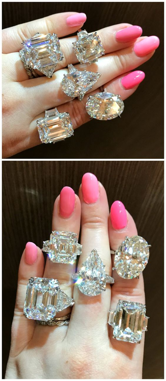 Incredible diamond rings by Kwiat. Talk about a dream engagement ring!