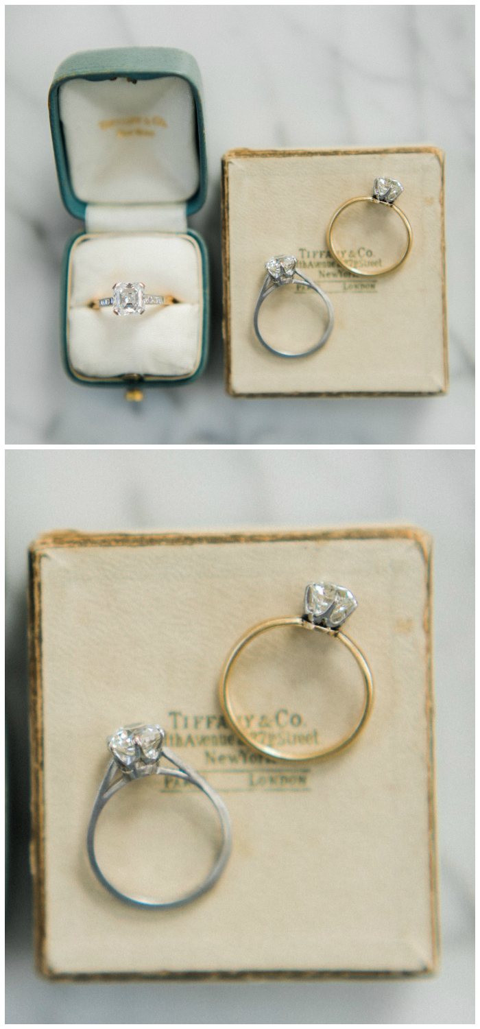 Three beautiful vintage engagement rings from Victor Barbone.