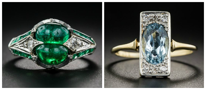 Two stunning antique rings from Lang Antiques.