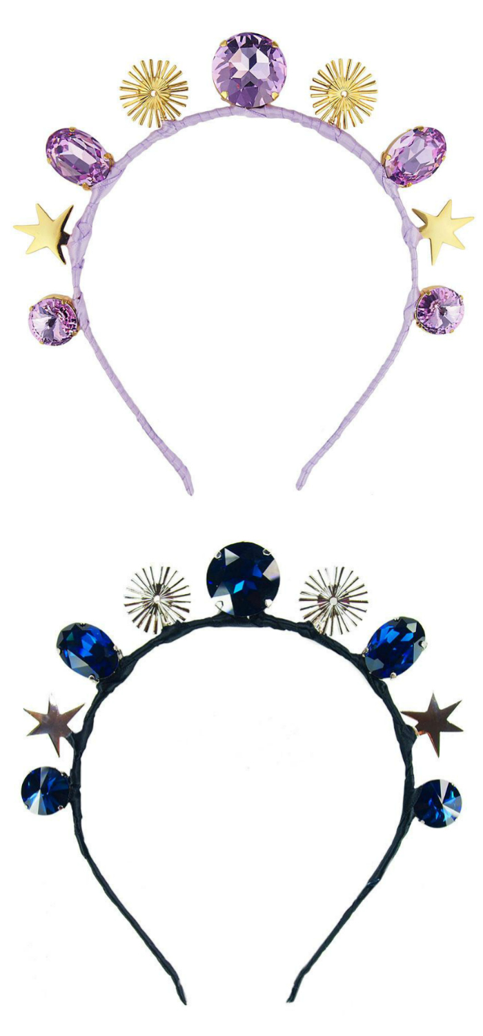 If you want a bejeweled headband done right, get one from a jewelry designer! I'm obsessed with these from JY Jewels.