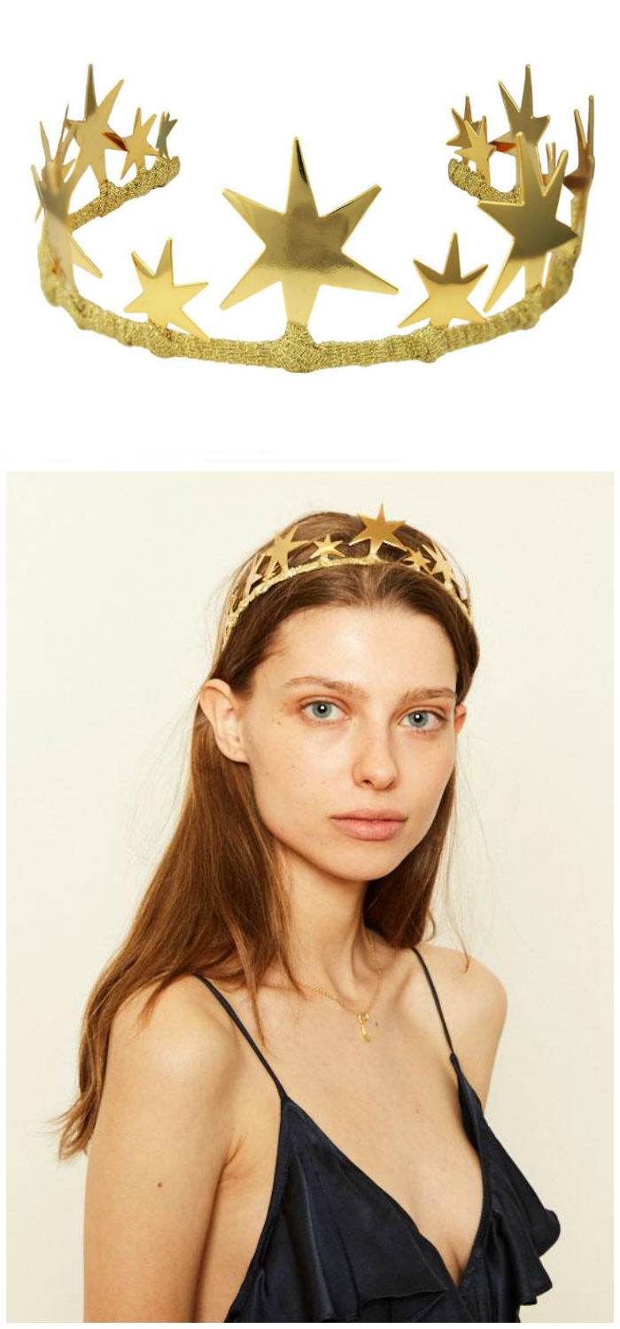 The Alexandra tiara by JY Jewels comes in rose gold, yellow gold, and silver. Here's the yellow gold!