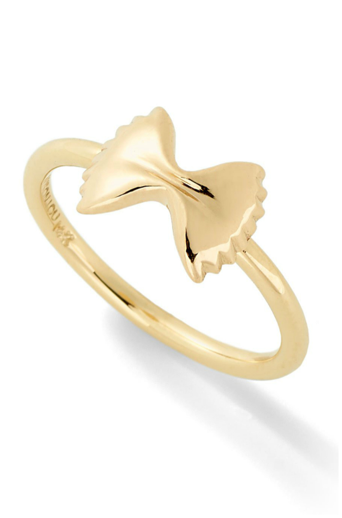 The farfalle ring from Alison Lou's Mama Mia collection!