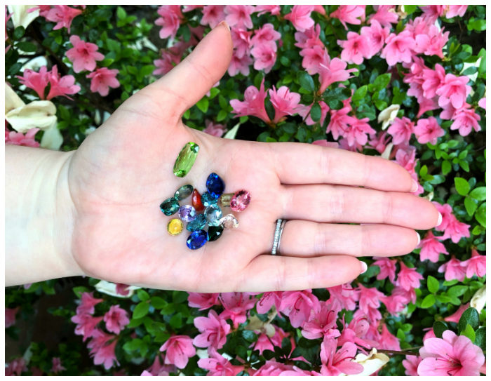 A handful of colored gemstones from Kimberly Collins Gems! The beauty of nature.