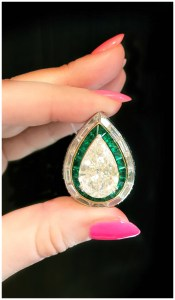 An incredible diamond ring by Picciotti, with emeralds. I love Italian jewelry.