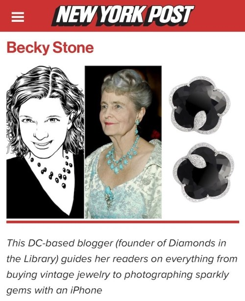 Becky Stone of Diamonds in the Library in the New York Post