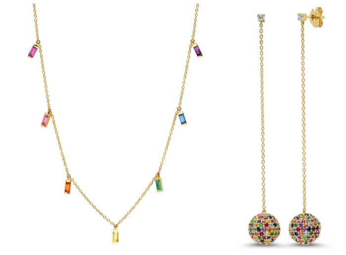 Eriness has so much fun rainbow jewelry that I don't even know which pieces to show you!