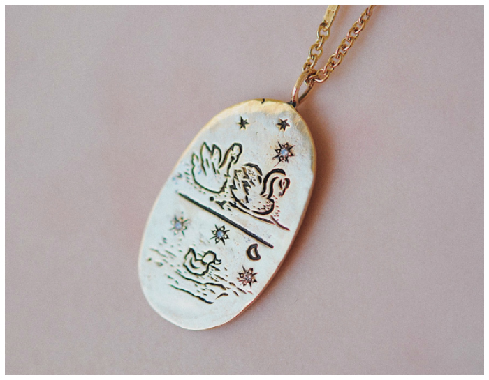 Mama jewelry she'll want to wear - Sofia Zakia's Cygnus necklces. The sweetest little swan family!!