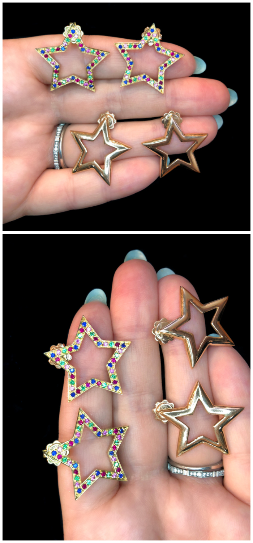 Star earrings by Italian jewelry brand Spallanzani!
